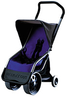 Photo of a Walk-About light and portable all-terrain stroller.